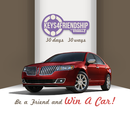 Keys4Friendship Win a lincoln MKZ