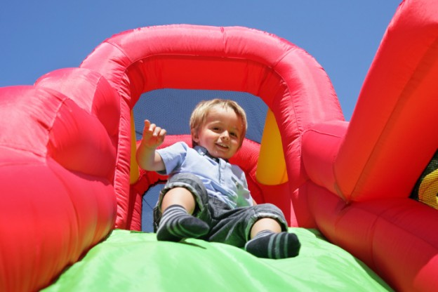 Child blow up slide
