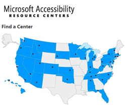 Microsoft Accessibility Resource Centers