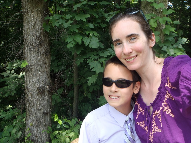 Mother and Son Helicopter Parent