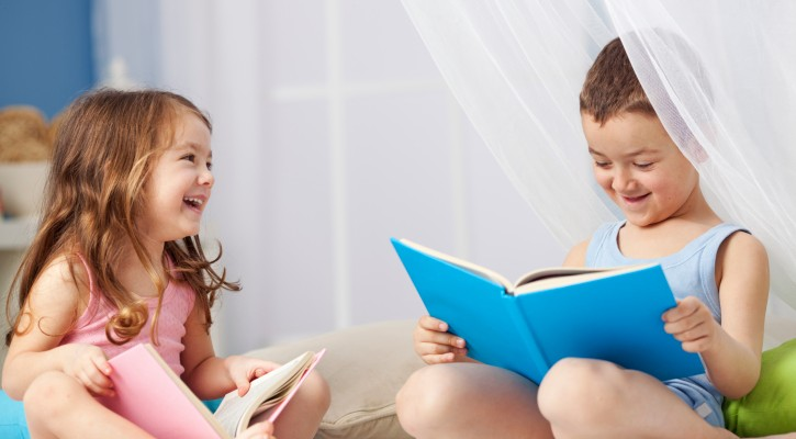 Siblings Reading