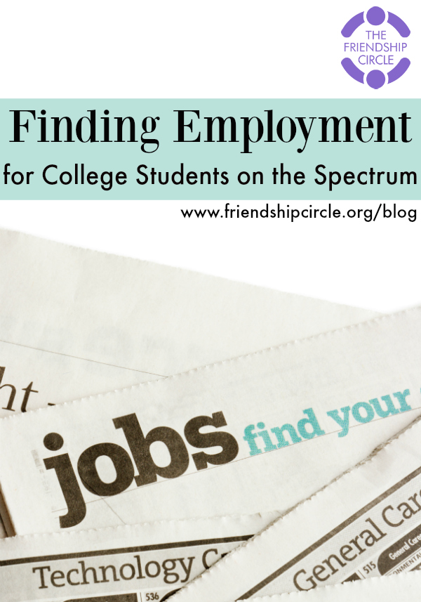Finding Employment for College Students on the Spectrum