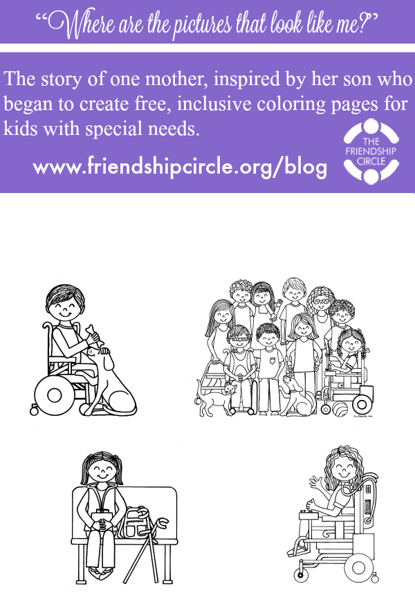 special needs coloring pages - photo#25
