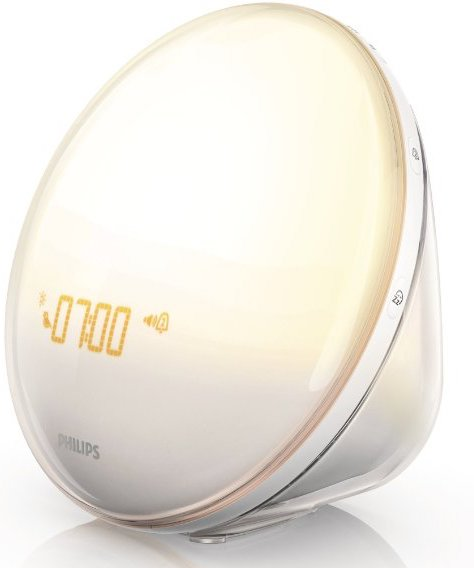 Alarm Clocks: Wake-Up Light With Colored Sunrise Simulation by Philips
