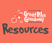 Great Bike Giveaway resources