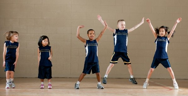 Gym Class jumping jacks