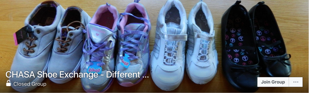 Social Media Resources on Cerebral Palsy: CHASA Shoe Exchange
